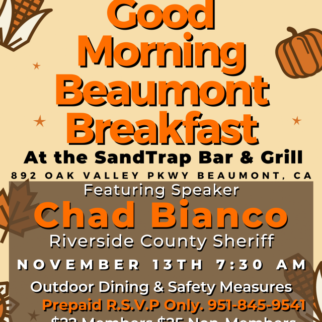 Good Morning Beaumont Breakfast – November 13th