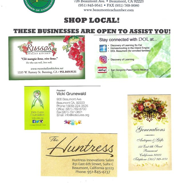 Shop Local! These Businesses are OPEN!