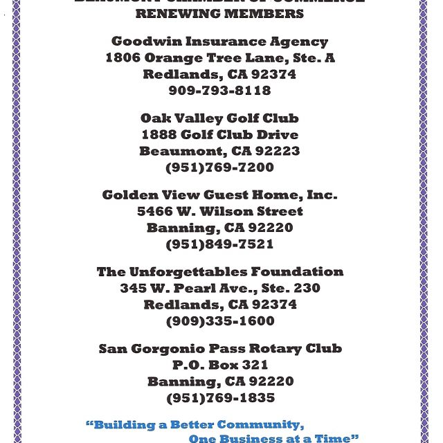 New & Renewing Members