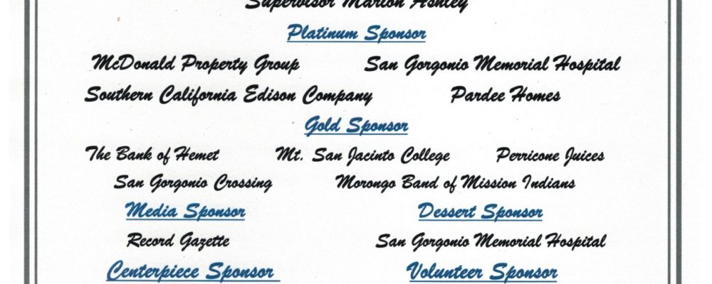 THANK YOU TO OUR STATE OF THE CITY SPONSORS!
