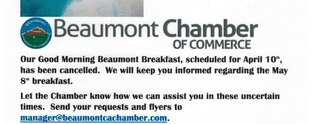 GOOD MORNING BEAUMONT BREAKFAST CANCELLED