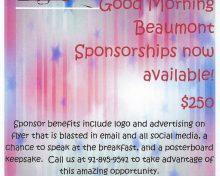 G.M.B. Breakfast Sponsorships