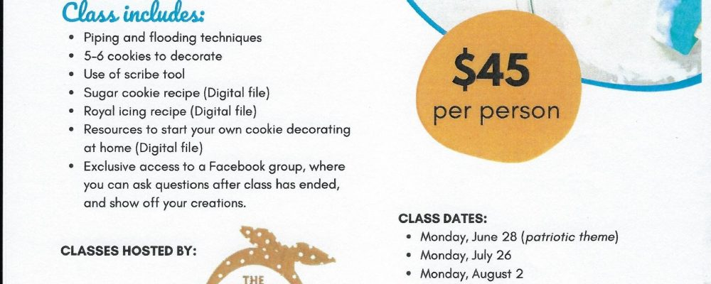 Learn to decorate cookies with royal icing!