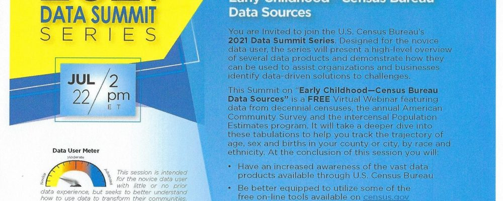 Early Childhood – Census Bureau Data Sources.