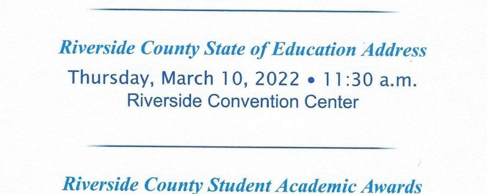 Riverside County Celebrating Educators Luncheon