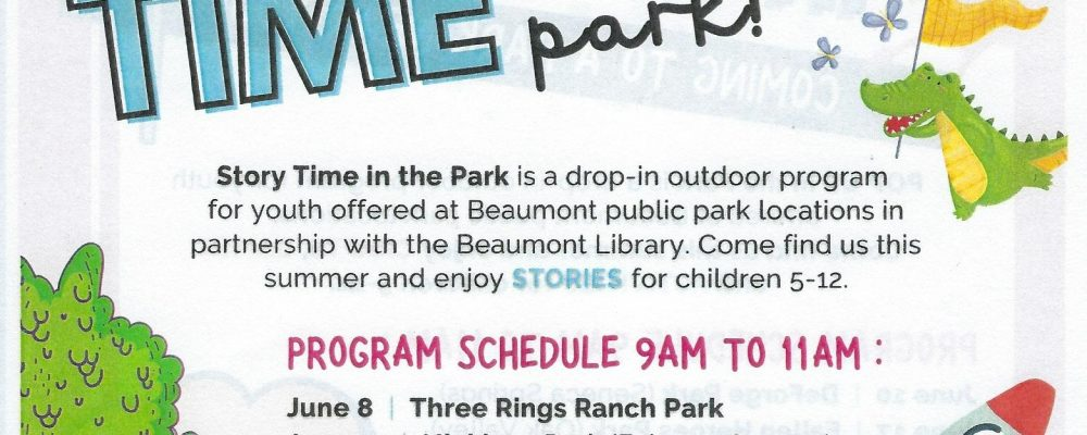 Story time in the Park!!