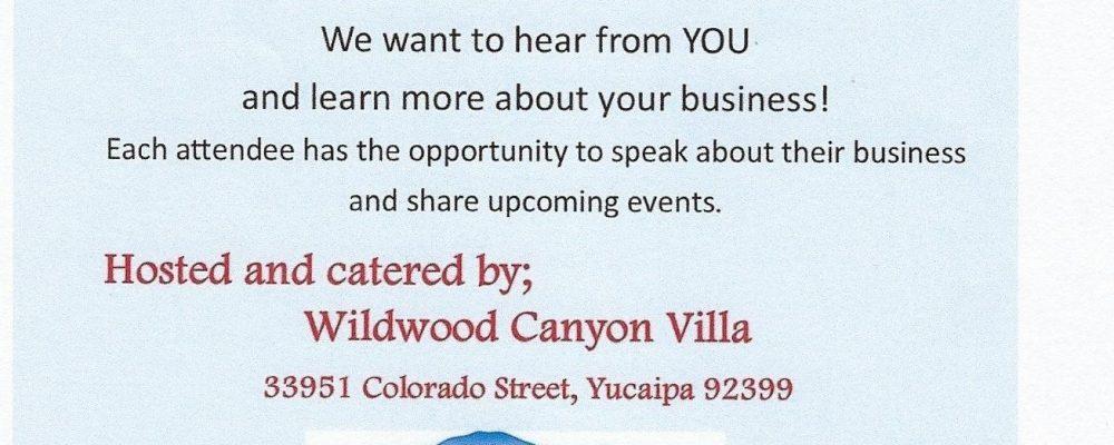 Good Morning Yucaipa Business Breakfast!