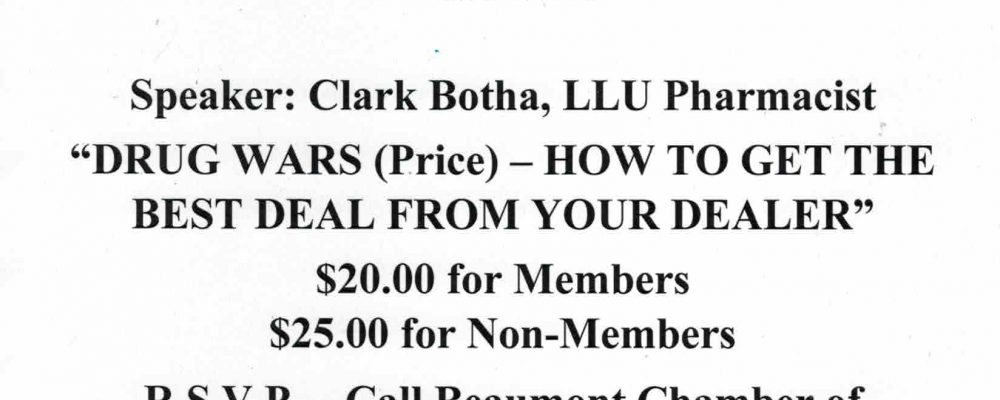 DRUG WARS – HOW TO GET THE BEST DEAL FROM YOUR DEALER – GOOD MORNING BEAUMONT BREAKFAST APRIL 12TH!