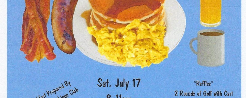 DeAnn's Pancake Breakfast!